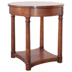 Walnut Side Table, Custom Made by Petersen Antiques