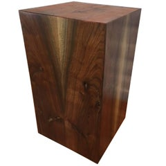 Walnut Side Table or Pedestal