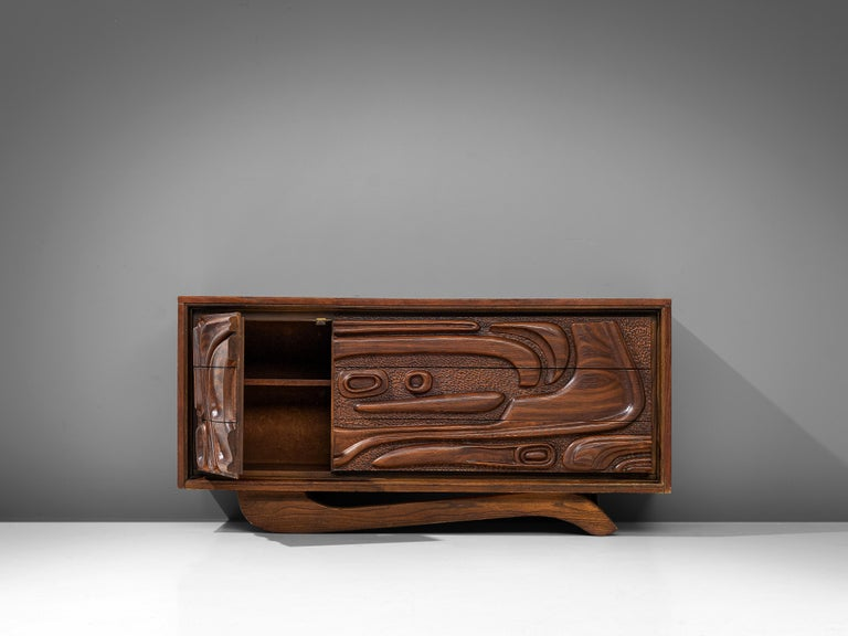 Walnut Sideboard by Pulaski Furniture Corporation, 1960s For Sale 4