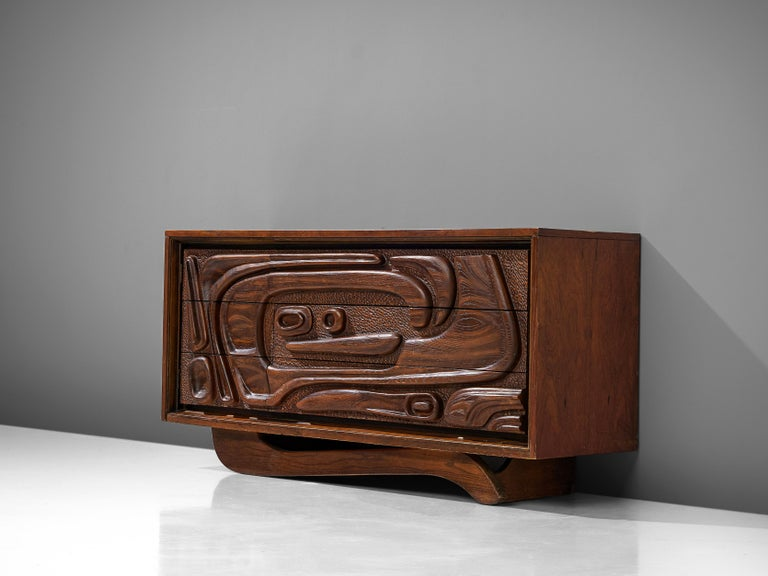 Pulaski Furniture Corporation, attributed to Witco, sideboard, walnut, United States, 1960s
