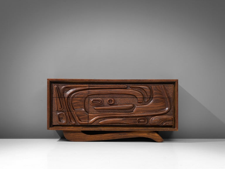 Mid-Century Modern Walnut Sideboard by Pulaski Furniture Corporation, 1960s For Sale