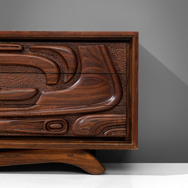 Mid-20th Century Walnut Sideboard by Pulaski Furniture Corporation, 1960s For Sale