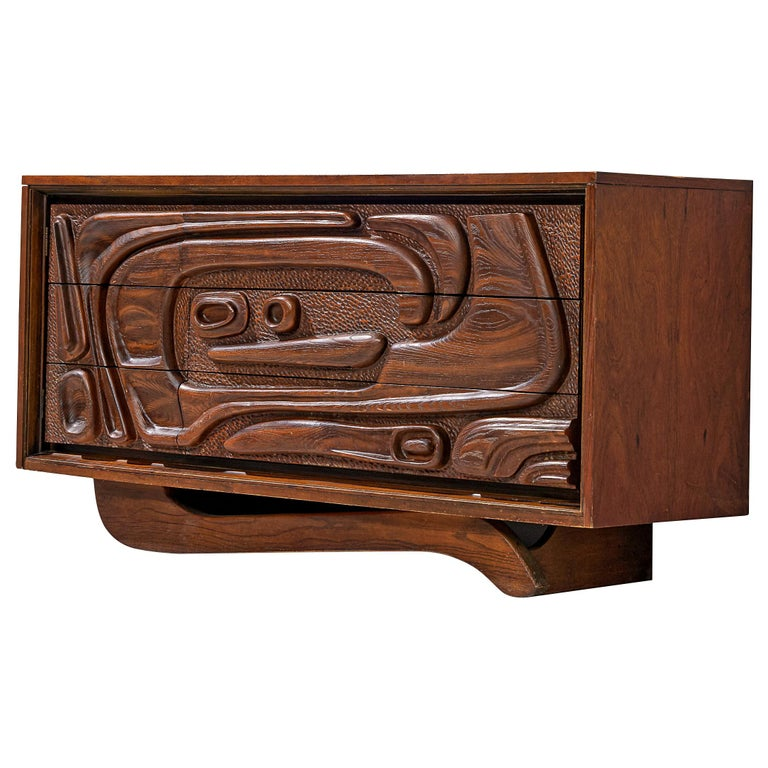 Walnut Sideboard by Pulaski Furniture Corporation, 1960s For Sale