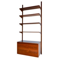 Walnut Single Section Wall or Shelving Unit by Barzilay, ca. 1970