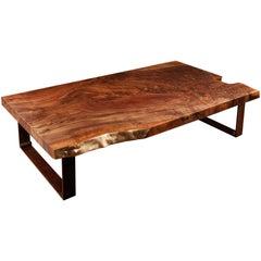 Walnut Slab Coffee Table by Studio Roeper