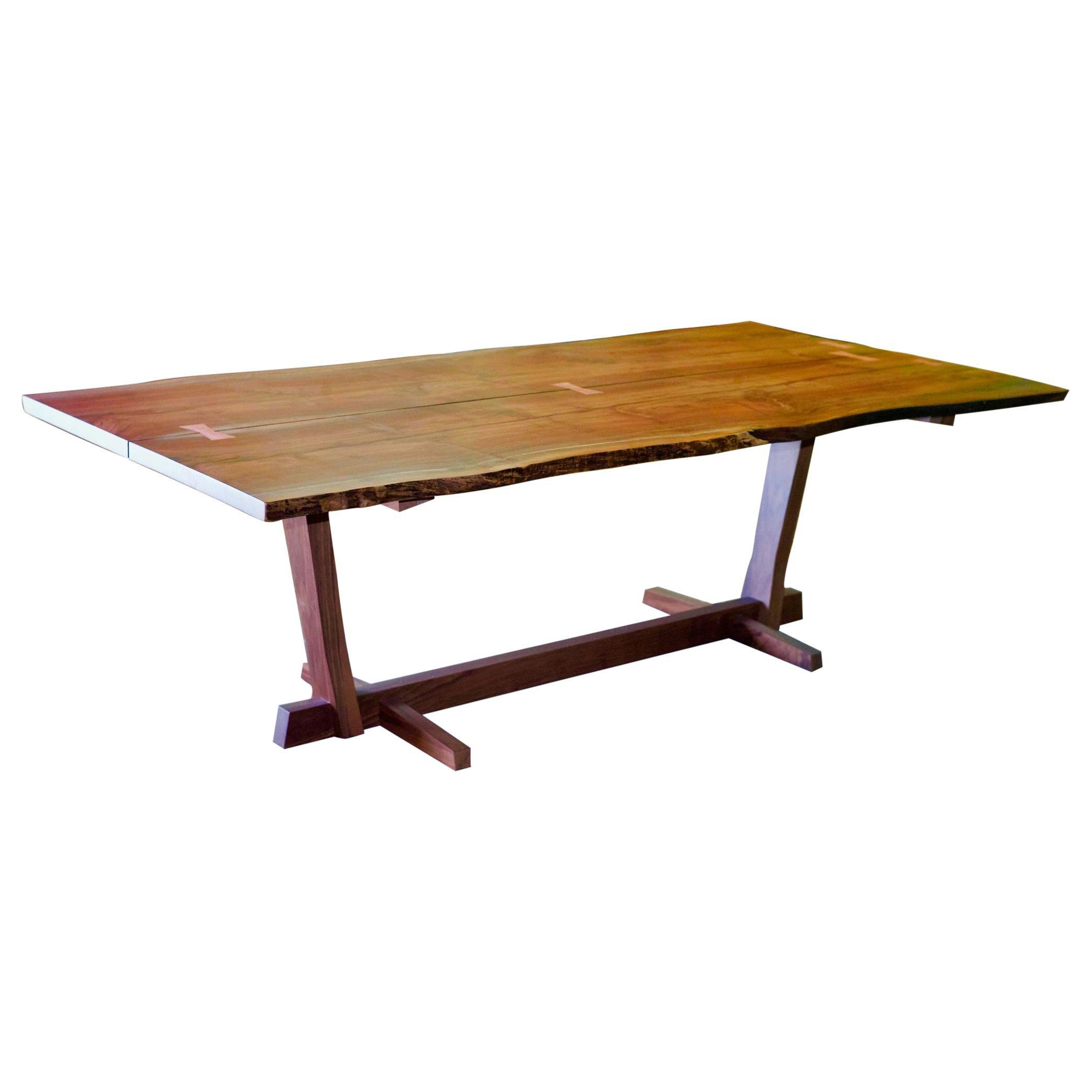 Custom Walnut Slab Live Edge Dining Table