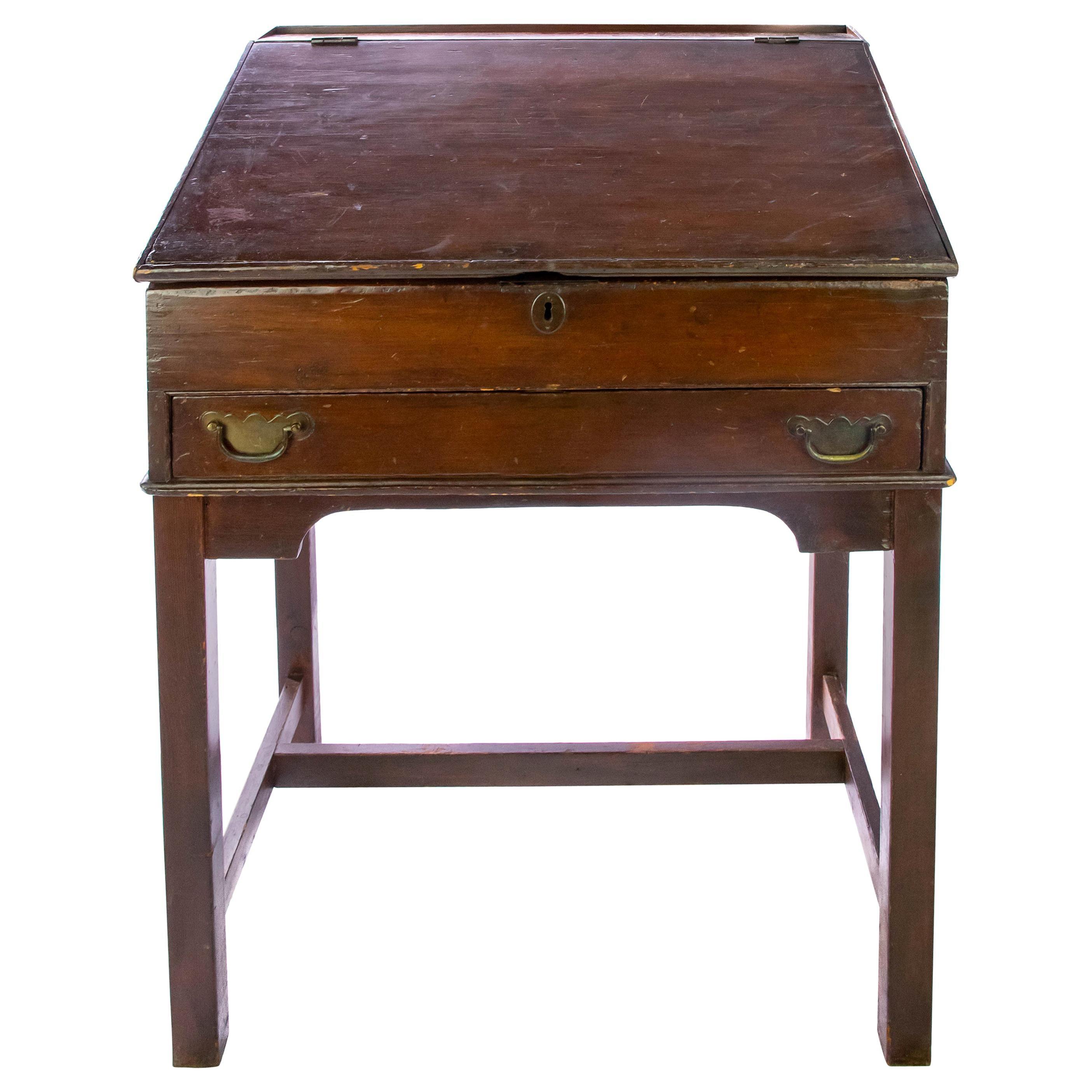 Walnut Slant Top Desk, 19th Century
