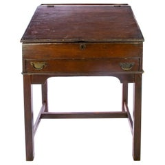 Walnut Slant Top Desk, 19th Century