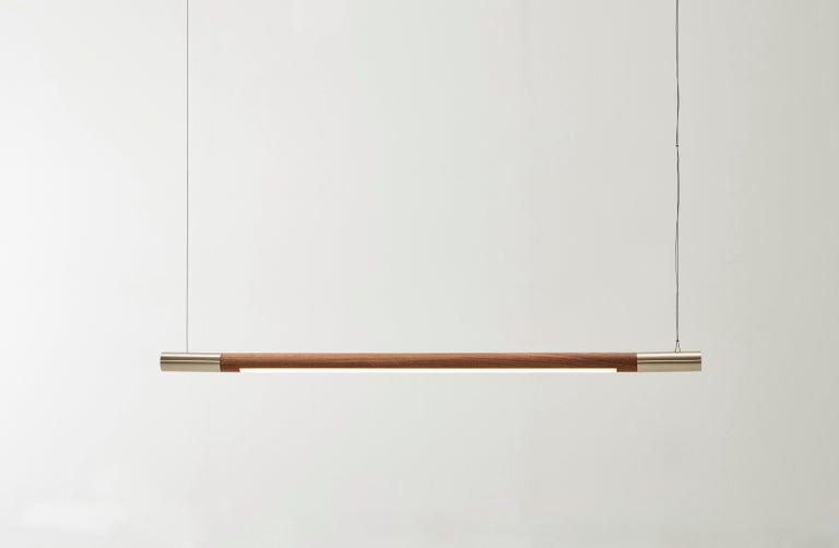 Modern Walnut Small Bennington Pendant by Hollis & Morris For Sale