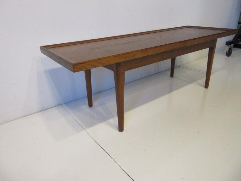 Mid-Century Modern Walnut Smaller Scale Coffee Table by Kipp Stewart for Drexel Declaration For Sale