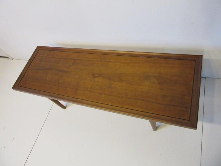 American Walnut Smaller Scale Coffee Table by Kipp Stewart for Drexel Declaration For Sale