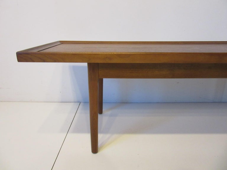 Walnut Smaller Scale Coffee Table by Kipp Stewart for Drexel Declaration In Good Condition For Sale In Cincinnati, OH