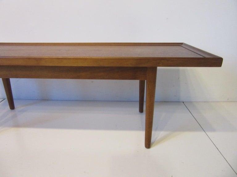20th Century Walnut Smaller Scale Coffee Table by Kipp Stewart for Drexel Declaration For Sale