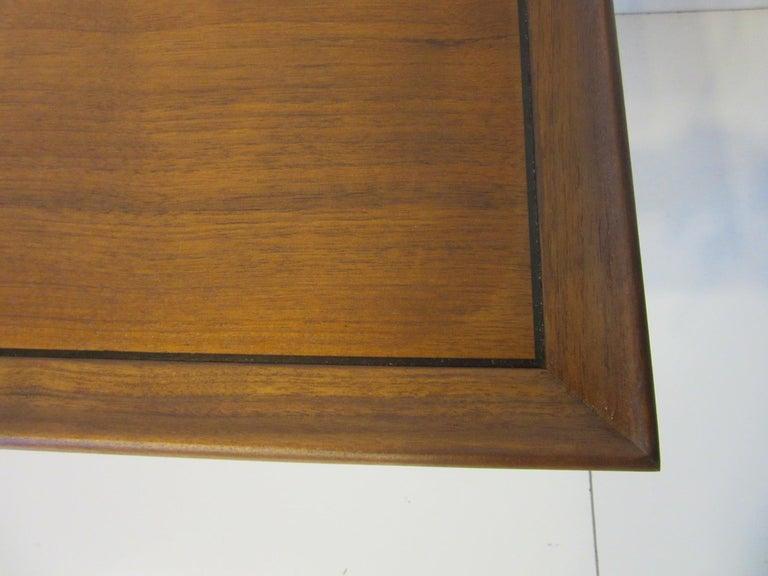 Walnut Smaller Scale Coffee Table by Kipp Stewart for Drexel Declaration For Sale 1