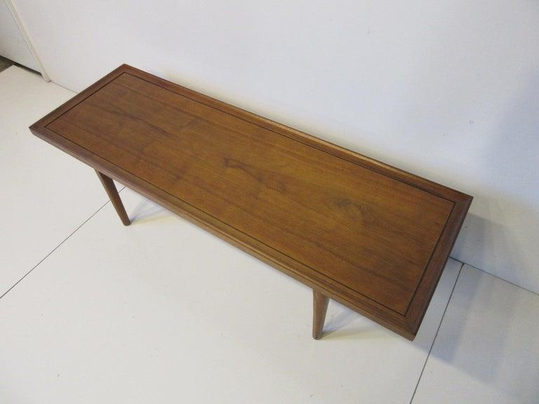 Walnut Smaller Scale Coffee Table by Kipp Stewart for Drexel Declaration For Sale 2