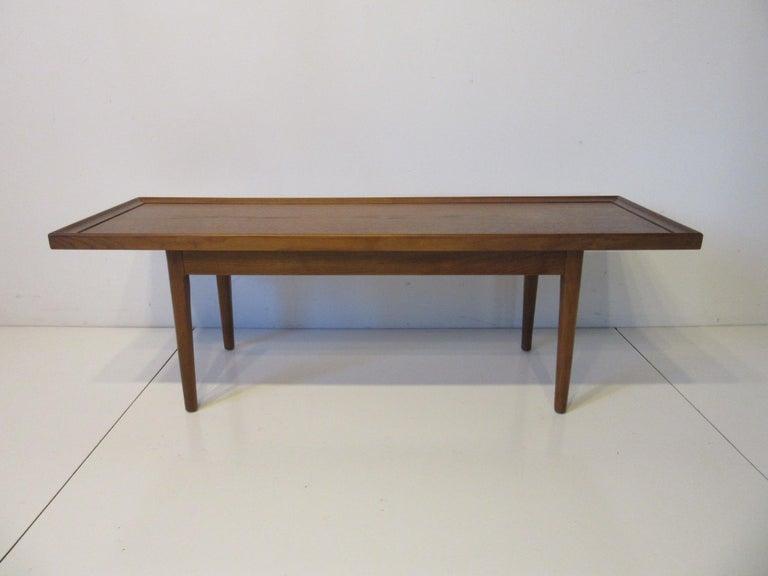Walnut Smaller Scale Coffee Table by Kipp Stewart for Drexel Declaration For Sale 3