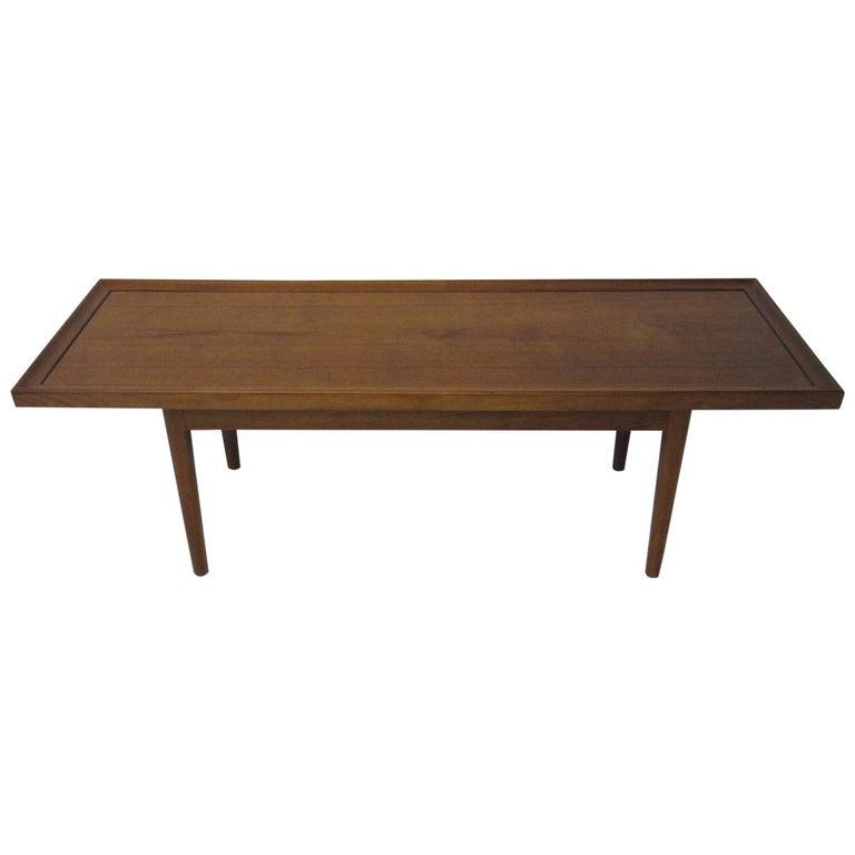 Walnut Smaller Scale Coffee Table by Kipp Stewart for Drexel Declaration For Sale