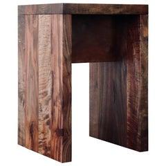 Walnut Staple Stool / Side Table