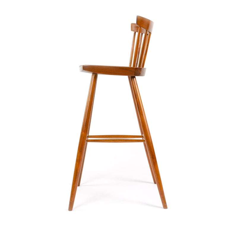 American Craftsman 1960s Walnut Stool by George Nakashima For Sale