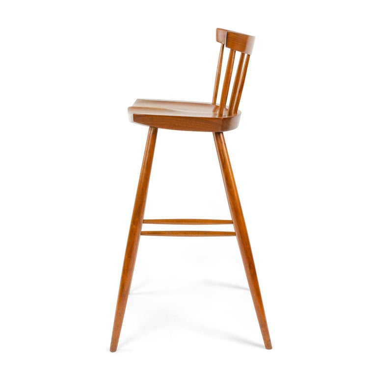 American 1960s Walnut Stool by George Nakashima For Sale