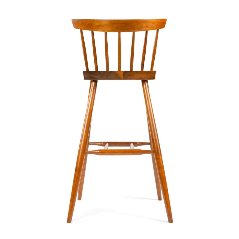 1960s Walnut Stool by George Nakashima In Good Condition For Sale In Sagaponack, NY