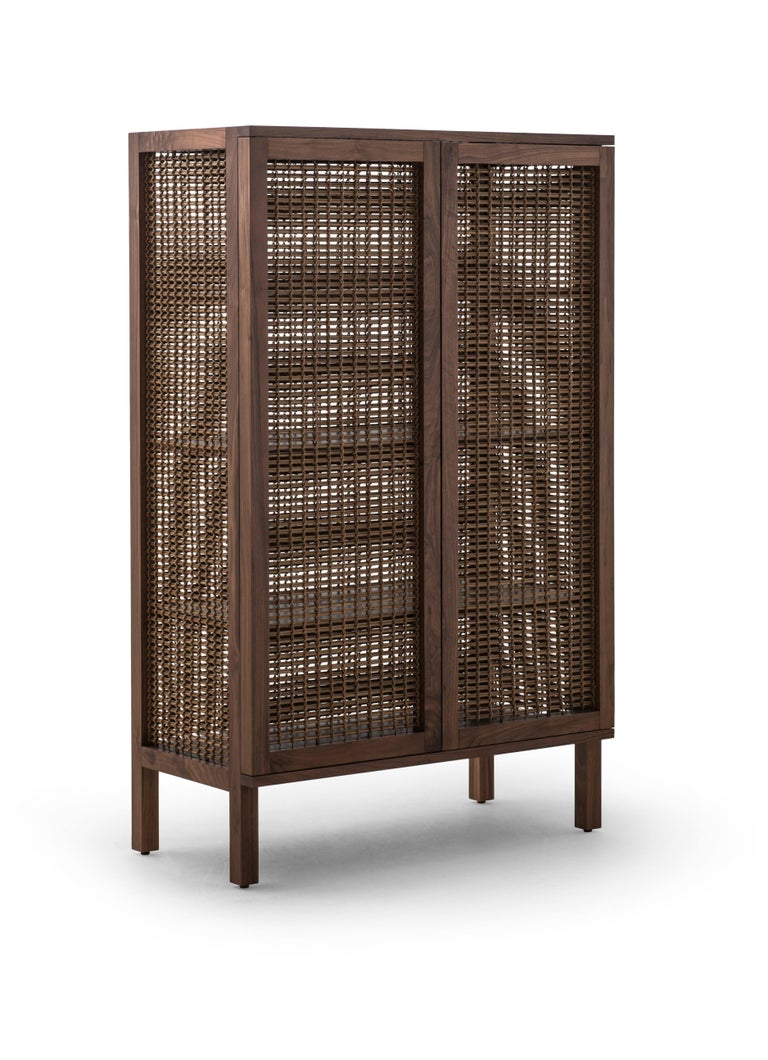 Philippine Walnut Suzy Wong Cabinet by Kenneth Cobonpue For Sale