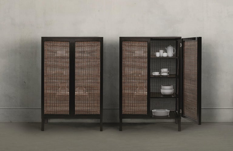 Walnut Suzy Wong Cabinet by Kenneth Cobonpue In New Condition For Sale In Geneve, CH