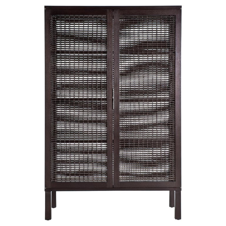 Walnut Suzy Wong Cabinet by Kenneth Cobonpue For Sale