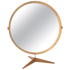 Walnut Table Mirror by Uno and Osten Kristiansson for Luxus