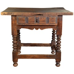 Walnut Table, Original State, 17th Century