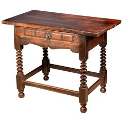 Walnut Table, Spain, 17th Century