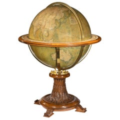 Walnut Terrestrial Globe by W & AK Johnston of Edinburgh & London