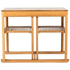 """Walnut """"The Sled"""" Nesting Table by Carl Malmsten"""