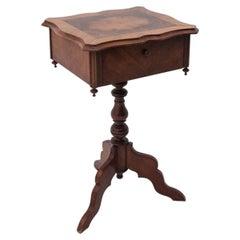 Walnut Thread Table from Around 1900