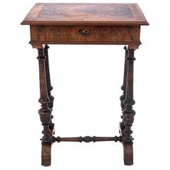 Walnut Thread Table, Western Europe, circa 1900, Antique