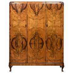 Walnut Three-Door Compactum Wardrobe