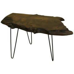Walnut Tree Live Edge Coffee Table with Hairpin Legs / LECT139