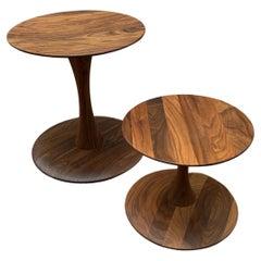 Walnut Trisse Stool & Table by Nanna Ditzel