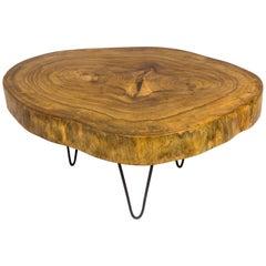 Walnut Trunk Coffee Table, circa 2000, France