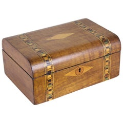Walnut Tumbridgeware Jewelry Box