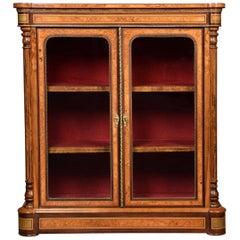 Walnut Two-Door Pier Cabinet