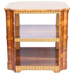Art Deco Walnut Veneer Side Table