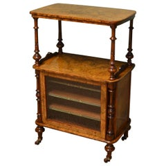 Walnut Victorian Inlaid Antique Music / Side Cabinet