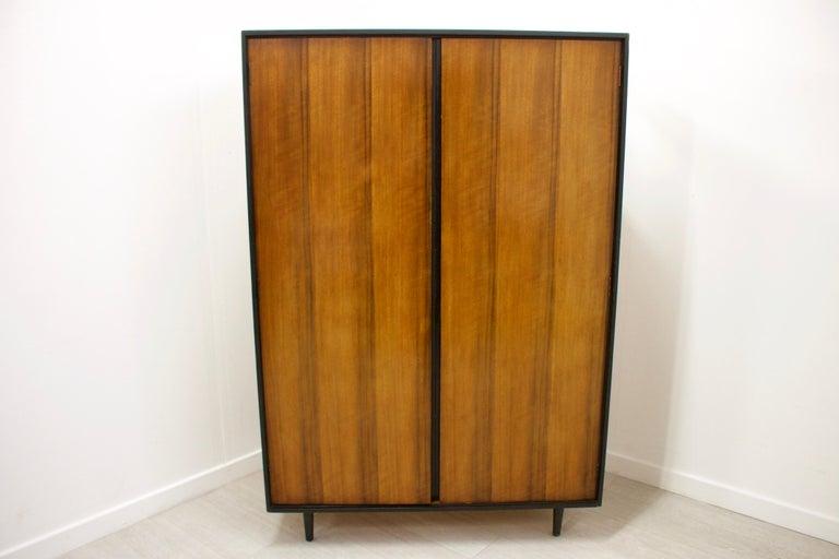 Mid-Century Modern Walnut Wardrobe by John & Sylvia Reid for Stag, 1950s For Sale