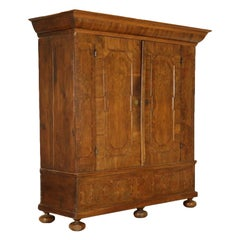 Walnut Wardrobe with Two Doors, Germany, 18th Century