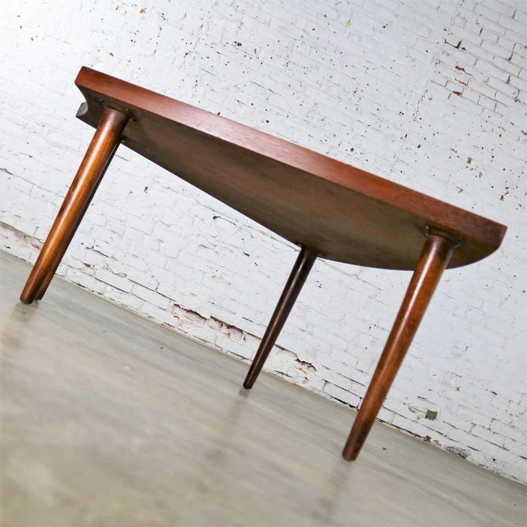 Walnut Wedge Shape End Table Attributed to Merton Gershun for American of Martin 5