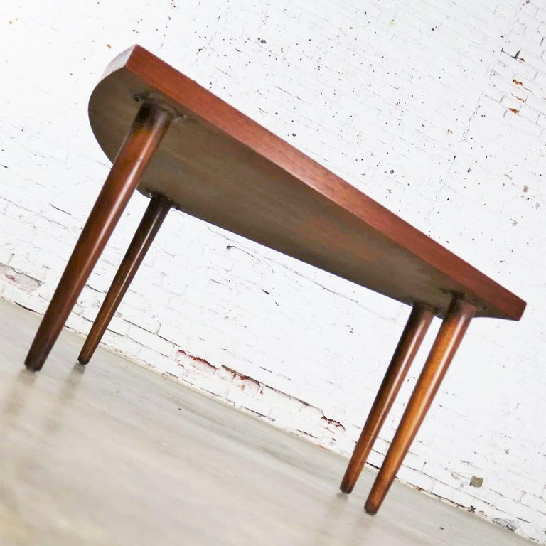 20th Century Walnut Wedge Shape End Table Attributed to Merton Gershun for American of Martin