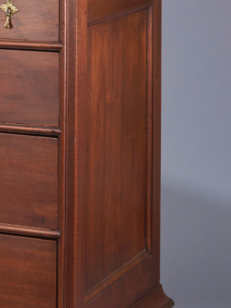 American Walnut William and Mary Chest of Drawers For Sale