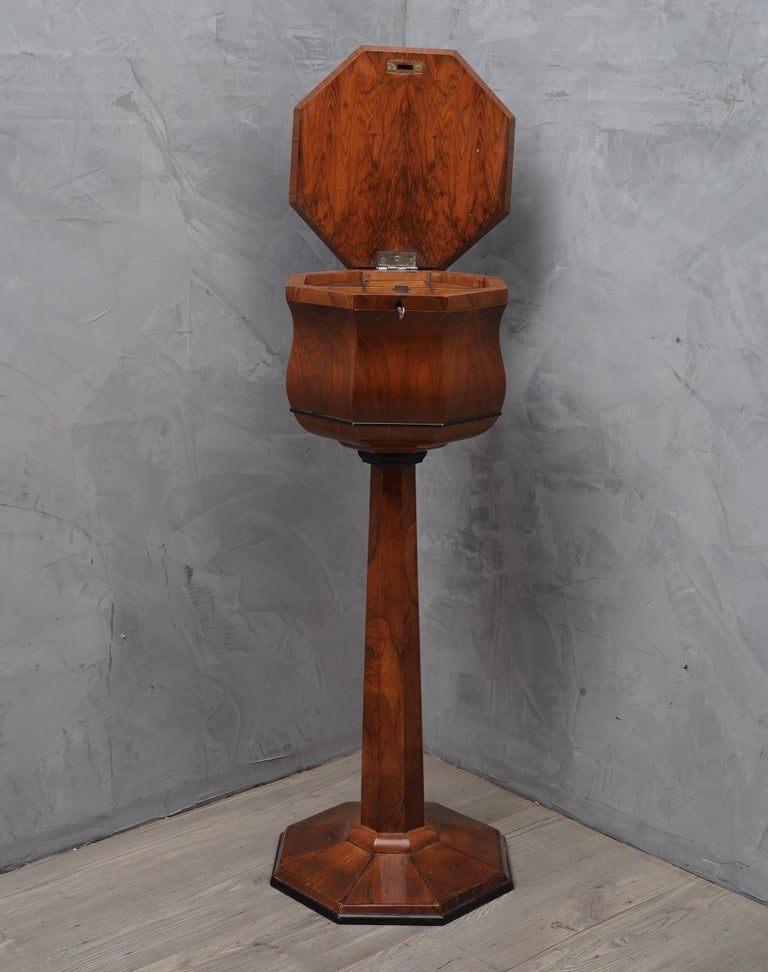 Mid-Century Modern Walnut Wood Austrian Side Table, 1850 For Sale