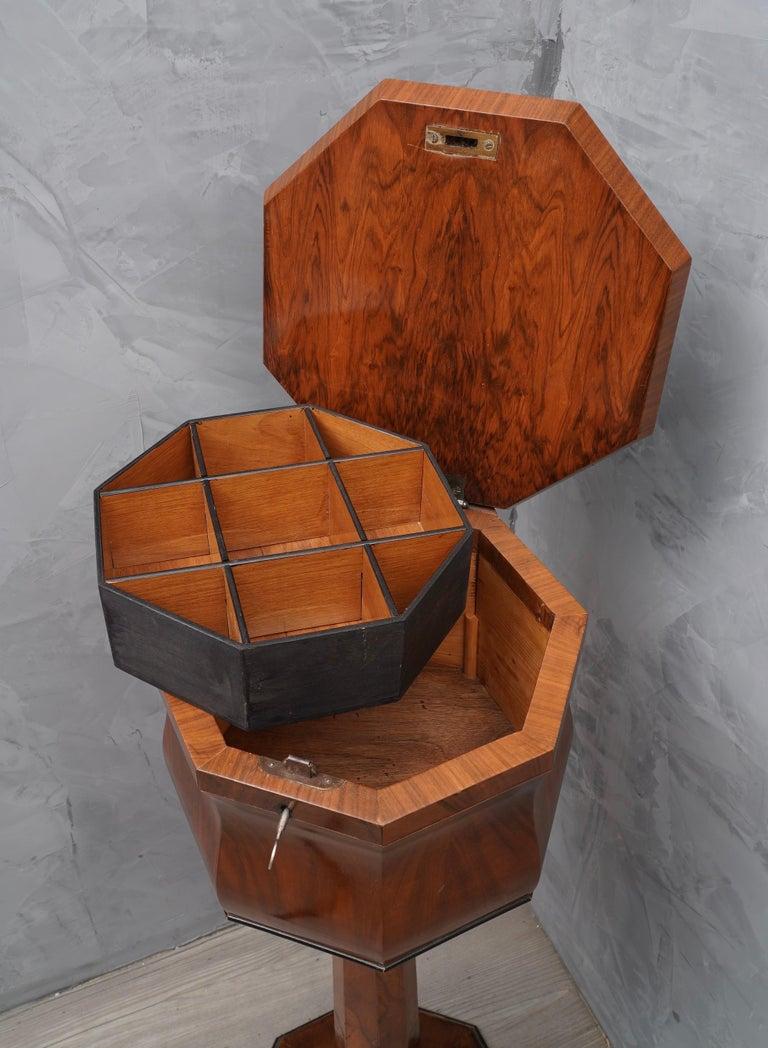 Mid-19th Century Walnut Wood Austrian Side Table, 1850 For Sale